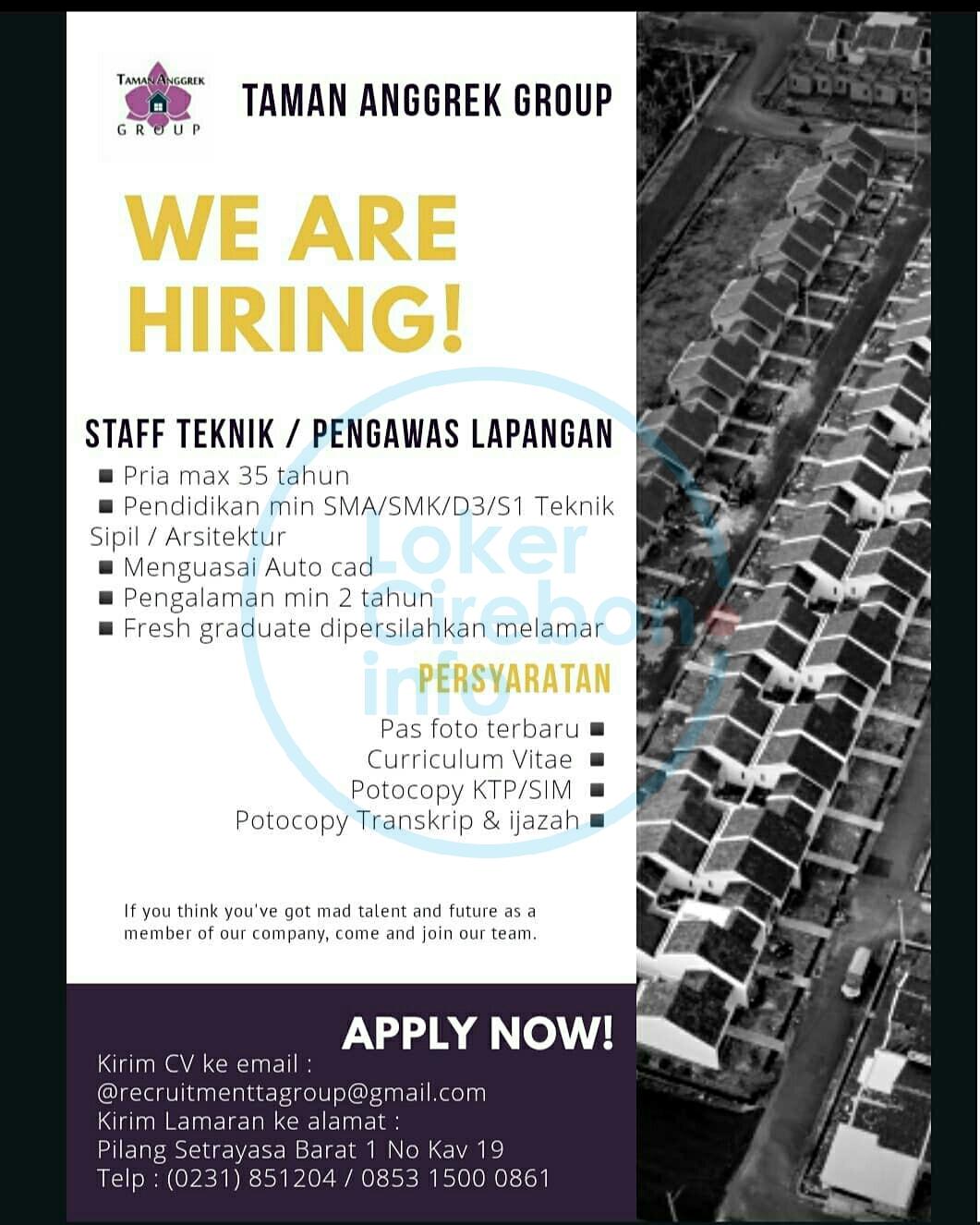 Lowongan Kerja Taman Anggrek Group Cirebon