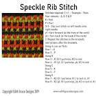 Speckled Rib Knitting Stitch