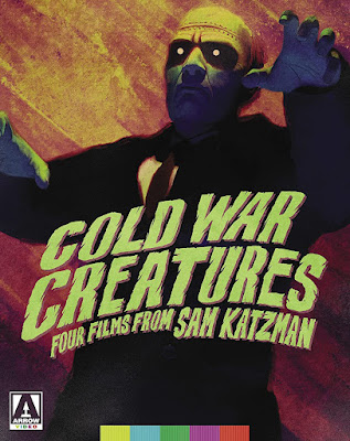 Cover art for Arrow Video's COLD WAR CREATURES: FOUR FILMS FROM SAM KATZMAN Blu-ray set!