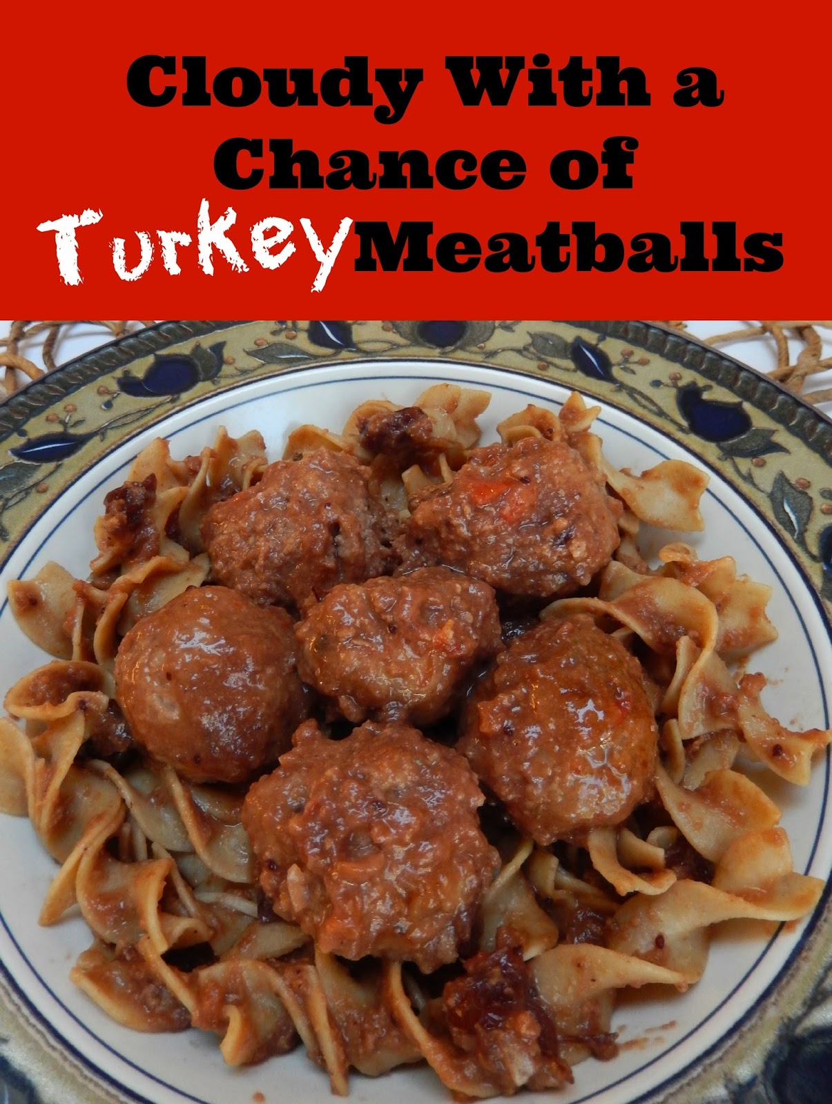 Cloudy With A Chance of Turkey Meatballs: Sweet and Sour Turkey Meatballs by Ms. Toody Goo Shoes