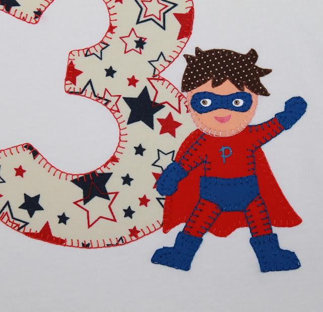 camiseta de cumpleaños superhéroe