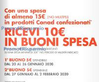 Logo Conad : spendi 15 euro, ricevi 10 euro in buoni spesa