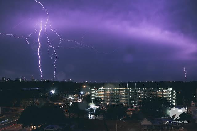 Thunderstorms. Austin, TX.