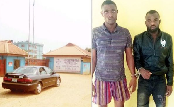 Faces of notorious kidnap kingpin of Nigerian-Turkish School arrested by Police