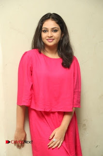 Actress Arundathi Nair Stills in Red Chididar at Bethaludu Success Meet  0080.JPG