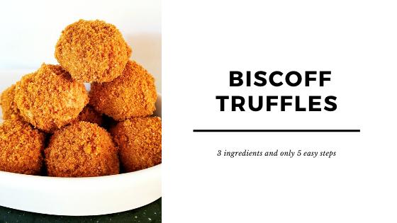 Homemade Biscoff truffles