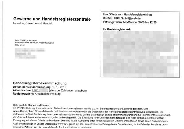 Scan: Offerte HRU GmbH / Jan 2020
