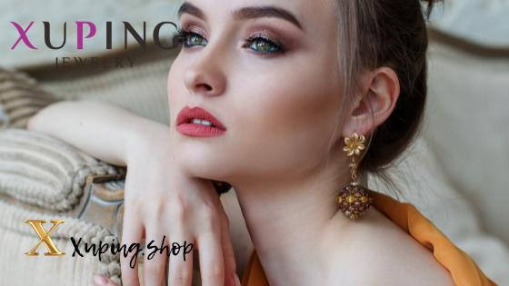 Купить женские серьги Xuping Jewelry в интернет-магазине Xuping.shop. Сережки классические позолота. Медицинское золото. Ювелирная бижутерия Хьюпинг.