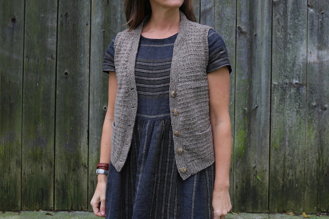 SweetKM Karen Templer Anna Vest Knitting Pattern Brooklyn Tweed Shelter