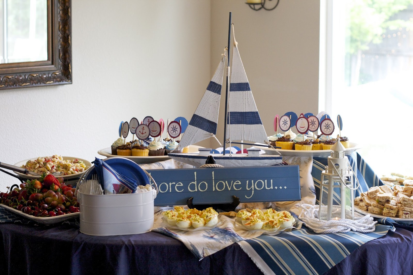 Sailboat Themed Baby Shower Decorations