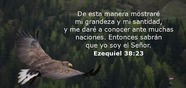 De esta manera mostraré mi grandeza y mi santidad, y me daré a conocer ante muchas naciones. Entonces sabrán que yo soy el Señor.