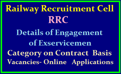 Southern Railway Recruitment Cell (RRC): Details of Engagement of Exservicemen Category on Contract Basis Vacancies- Online Applications /2019/08/southern-railway-recruitment-cell-rrc-exservicemen-category-posts-apply-online-at-www.rrcmas.in.html