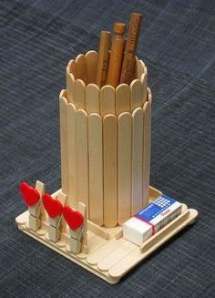 Kerajinan Tangan Tempat Pensil Stik Es Krim