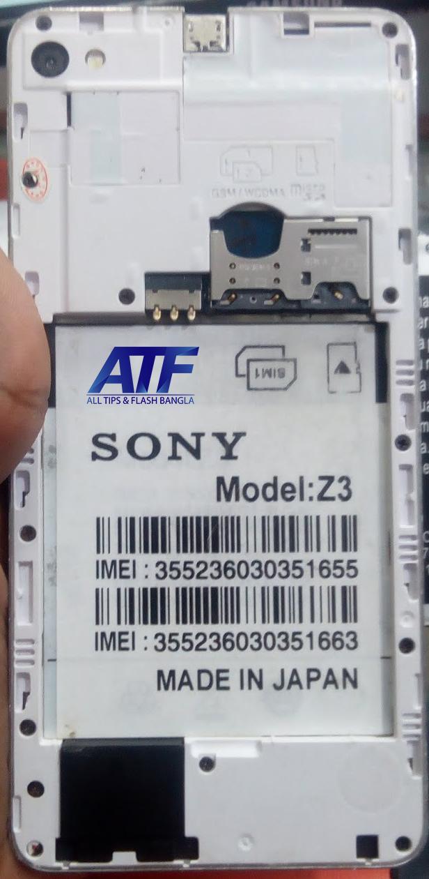 SONY CLONE Z3 FLASH FILE FIRMWARE (STOCK ROM)