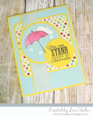 My Umbrella card-designed by Lori Tecler/Inking Aloud-stamps from Verve Stamps