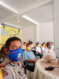 Kasat Lantas Polres Pangkep Lakukan Giat Koordinasi ke Tim Pemenangan Paslon Bupati dan Wabup Pangkep
