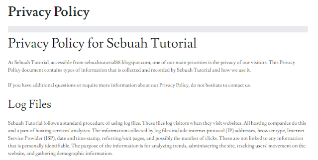Last Step of Privacy Policy : Done