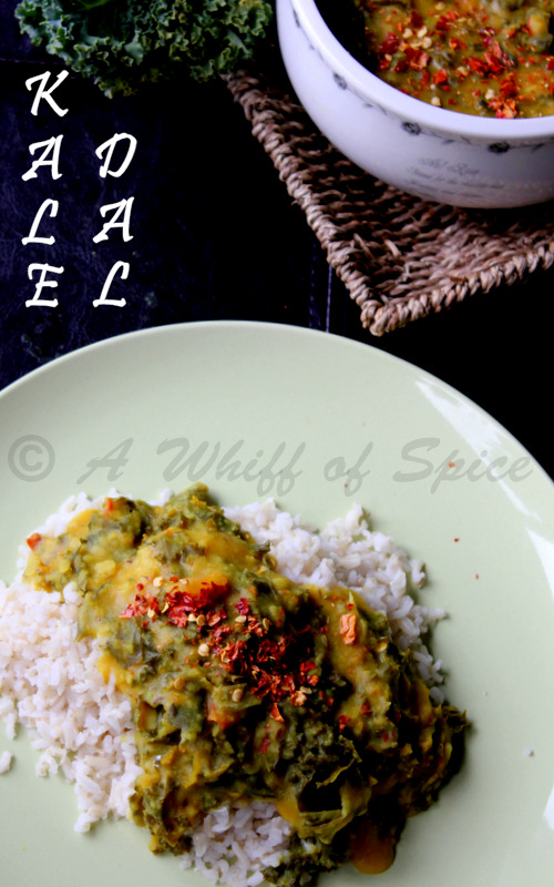 A Whiff of Spice: Kale Dal - Kale cooked with Yellow Lentils