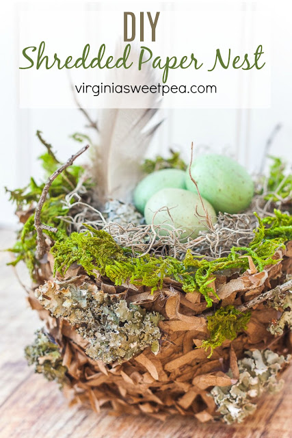 How to make a spring nest with shredded paper
