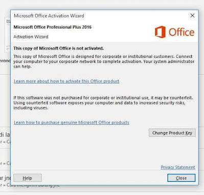 cara mengatasi product activation failed microsoft office