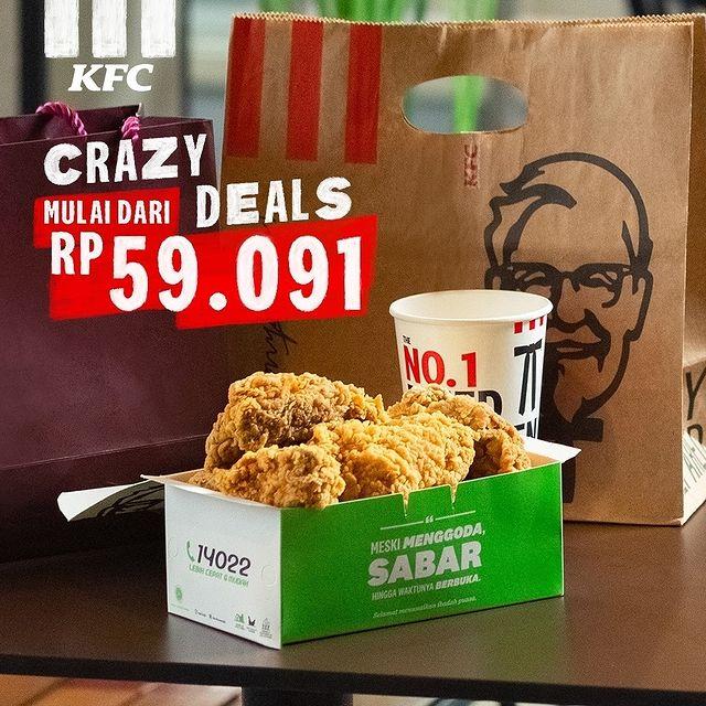 Promo KFC CRAZY DEAL - 5 Ptg 59 Ribuan hingga 31 Mei 2021