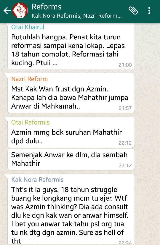 Penyokong PKR Menyirap Azmin Jadi Orang Tengah Bawa Mahathir Jumpa Anwar