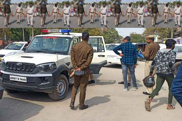 faridabad-police-take-action-against-rule-breaker-lock-down-24-march