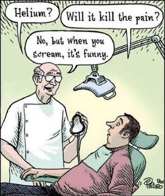 Funny Dentist Helium Pain Cartoon Image