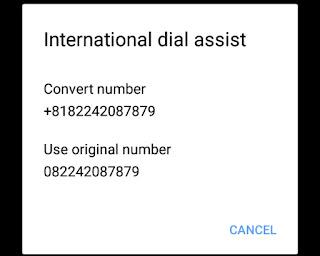 Cara Menghilangkan Kode Telepon Jepang Saat Menelpon di HP Fujitsu Docomo - Go-Blogger JPR