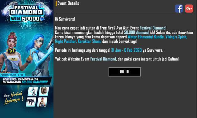 Buka Website Event Festival Diamond Free Fire Melalui Broswer
