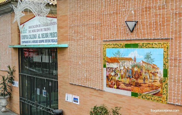 Mercado de Triana, no Castelo de São Jorge, em Sevilha