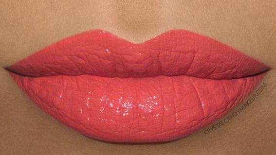 Make Up For Ever Artist Rouge Creme Lipstick Swatch C303 Orange Coral