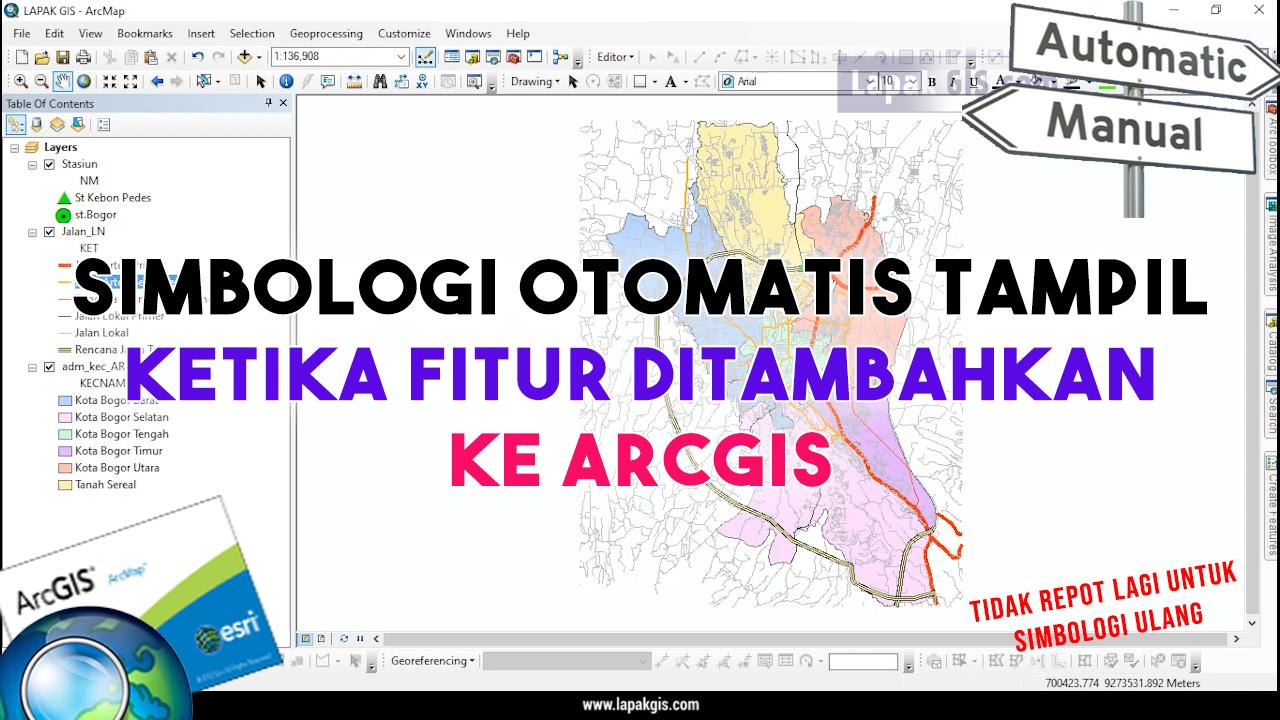 Simbologi Otomatis Tampil Ketika Fitur ditambahkan ke ArcGIS