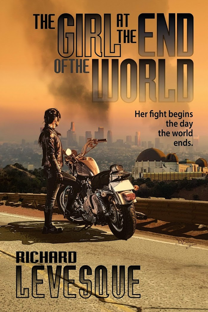 The Girl at the End of the World by Richarde Levesque - Image Corvid Design