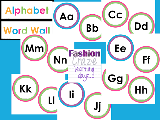 alphabet headers