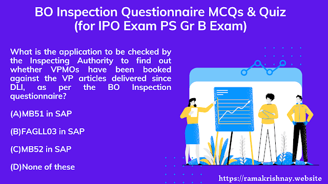 BO Inspection Questionnaire MCQs