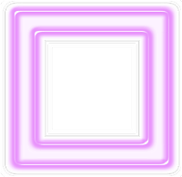 Moldura quadrada lilás - criação Blog PNG-Free