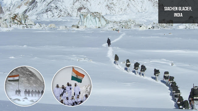 Siachen Glacier, India