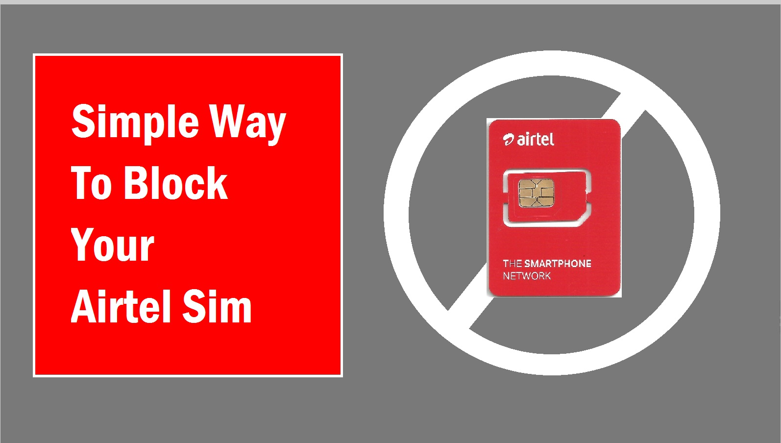 How to block the Airtel SIM Card Online