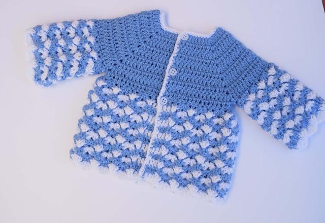 3 -Crochet Imagen Saco,jersey y chambrita a crochet y ganchillo por Majovel Crochet