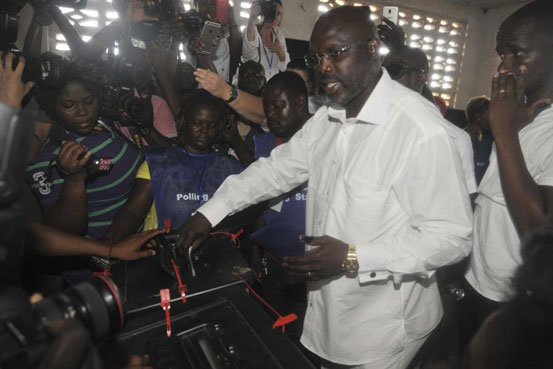 BREAKING:  Soccer star George Weah wins Liberian presidential election