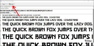 cara install font ke photoshop