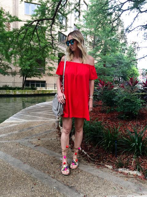 off shoulder style dress