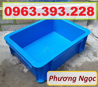 Thùng nhựa đặc B7 có nắp, hộp nhựa cơ khí, khay nhựa đặc 81df66856eeb88b5d1fa