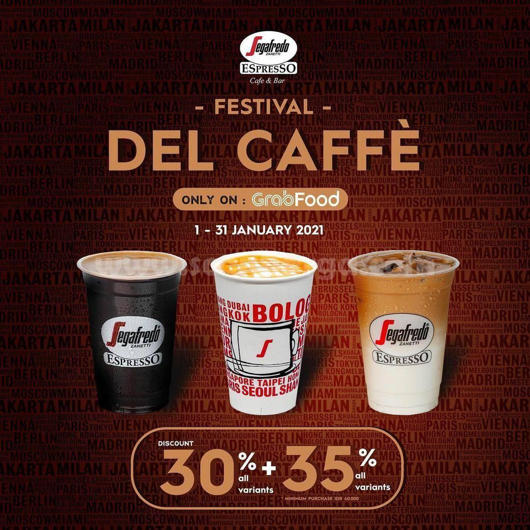 Promo Segafredo Zanetti Festival Del Caffe Discount 30% + 35% via Grabfood