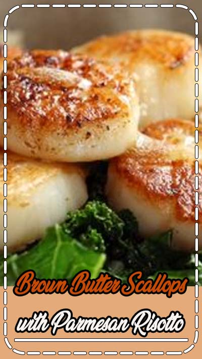 Brown Butter Scallops with Parmesan Risotto! So Luscious! So Fancy! So Christmas-Date-Night-In Perfect. Say hello to this delicious meal! #scallops #seafood #dinner #recipe | pinchofyum.com