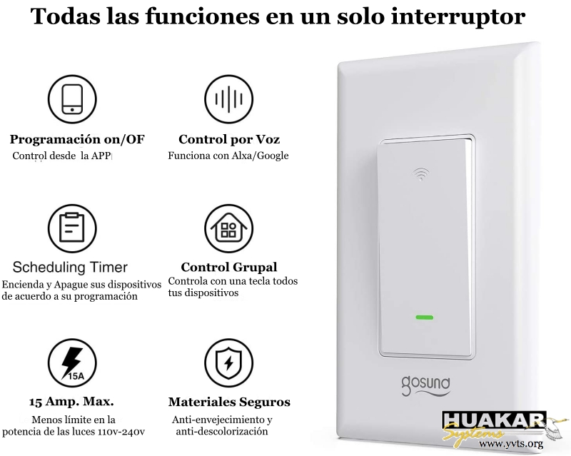 HS-SP-1003 - Gosund InterruptorWi-Fi