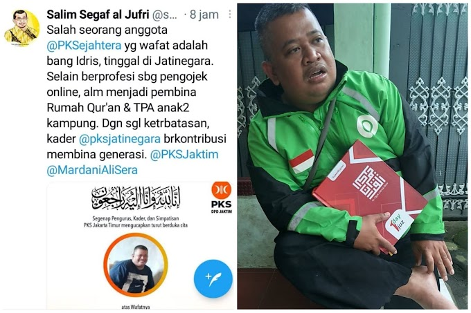 """""""Selamat Jalan Bang Idris. Kami Bersaksi bahwa Engkau Pejuang Sejati"""""""