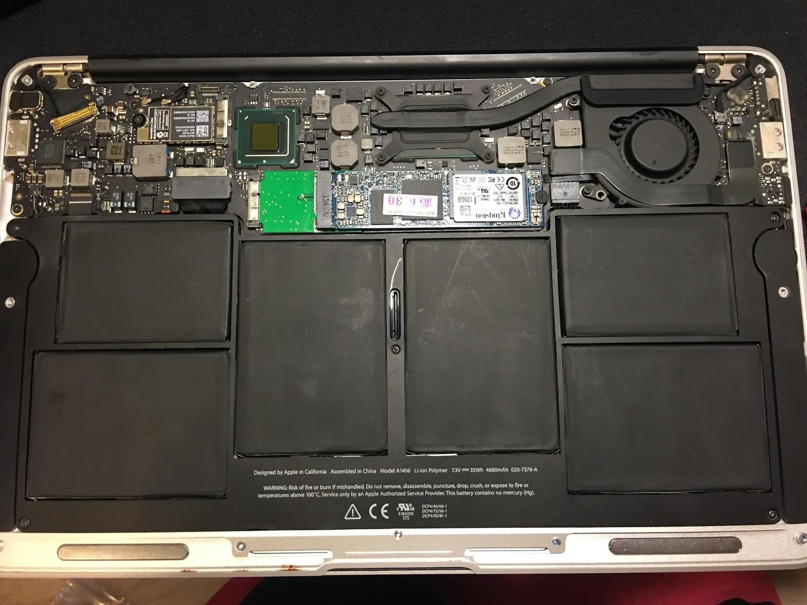2011 Macbook Air 更換電池 同場加映 升級 SSD - 生命的滋味 - 品嚐烏克麗麗