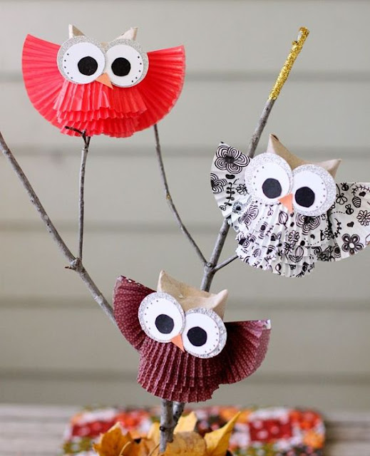 Owl Craft Cupcake Liner